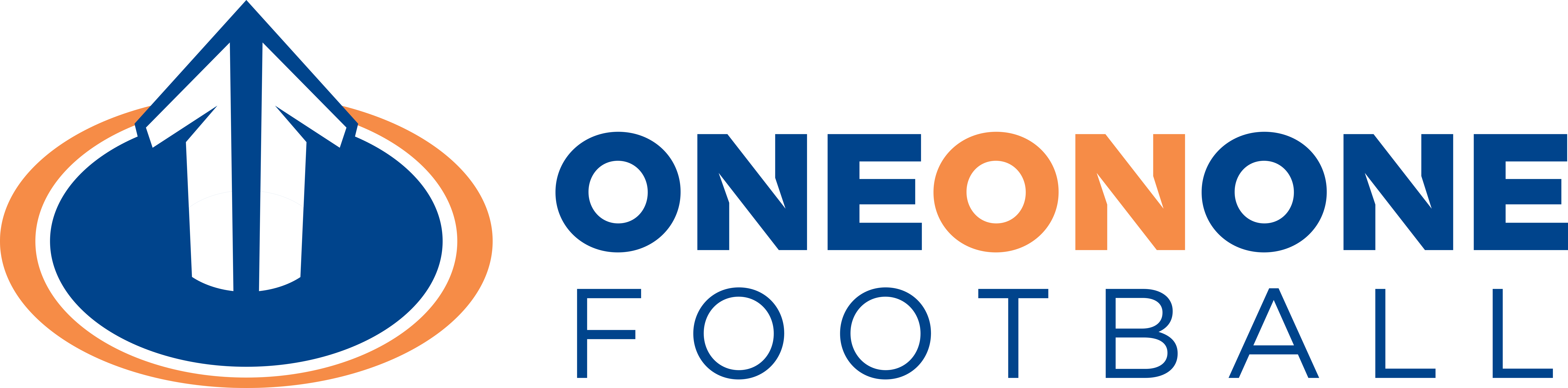 One on One Football Logo